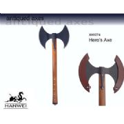 Viking Hero's Double Bladed Axe - Antique Finish